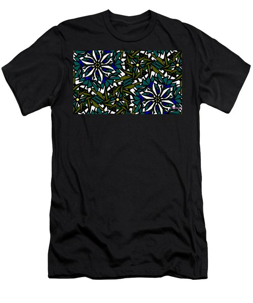 Pin-wheel Flowers Men's T-Shirt (Slim Fit) by Elizabeth McTaggart
