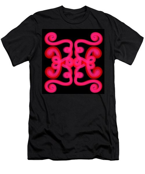 Men's T-Shirt (Slim Fit) featuring the digital art Pink Scroll by Christine Fournier