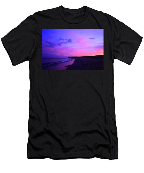Pink Sky And Beach Men's T-Shirt (Athletic Fit)