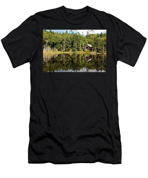 Men's T-Shirt (Athletic Fit) featuring the photograph Pond Along The At by Jemmy Archer