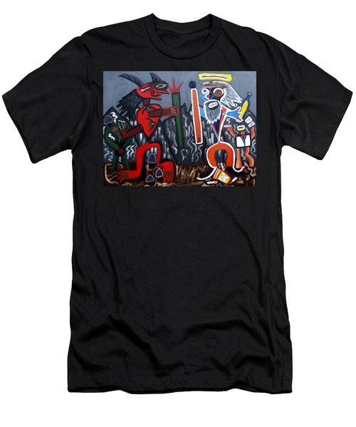 Pros Vs. Cons Men's T-Shirt (Slim Fit) by Ryan Demaree