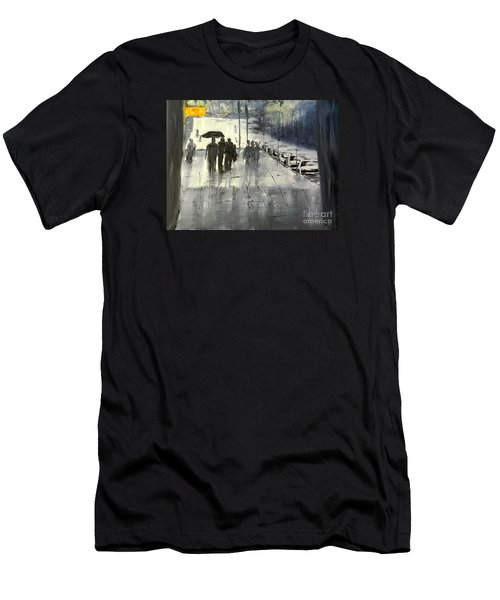 Rainy City Street Men's T-Shirt (Athletic Fit)