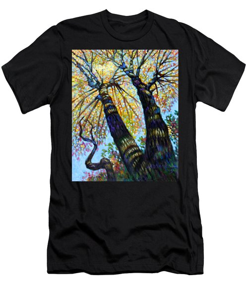 Reaching For The Light Men's T-Shirt (Slim Fit) by John Lautermilch