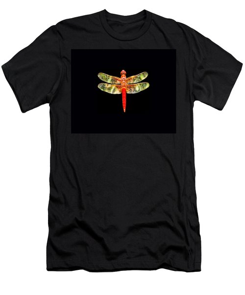 Red Dragonfly Small Men's T-Shirt (Athletic Fit)