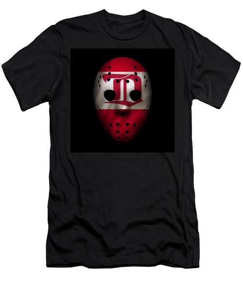 Red Wings Jersey Mask Men's T-Shirt (Athletic Fit)