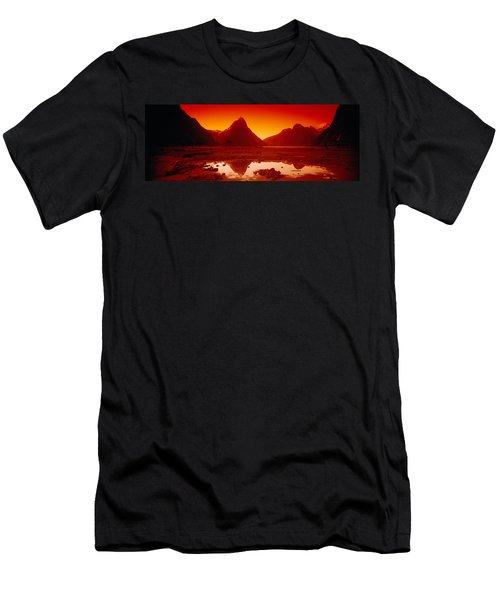 Reflection Of Mountains In A Lake Men's T-Shirt (Athletic Fit)