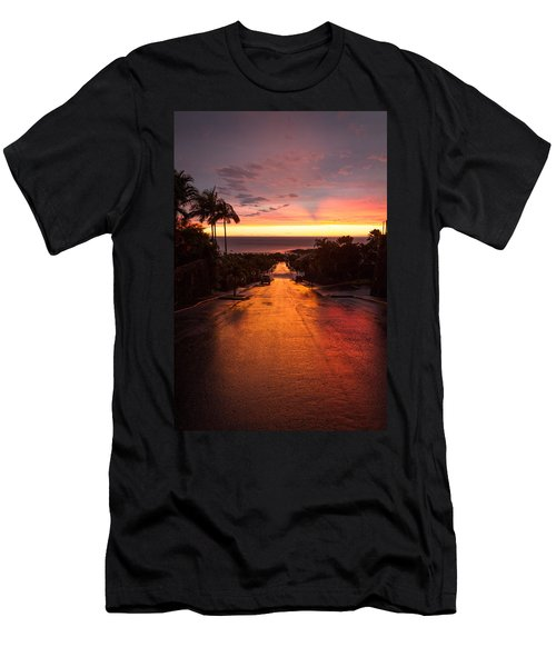 Sunset After Rain Men's T-Shirt (Athletic Fit)