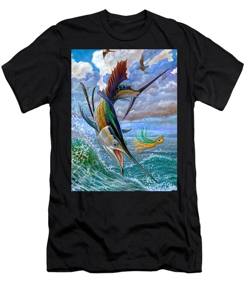 Sailfish And Lure Men's T-Shirt (Athletic Fit)