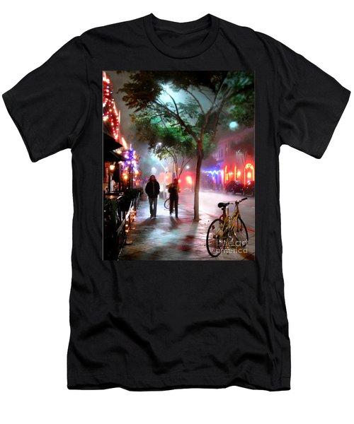 Men's T-Shirt (Slim Fit) featuring the photograph Santa Monica Secrets by Jennie Breeze
