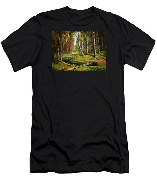 Silence Of The Forest Men's T-Shirt (Slim Fit) by Kate Black