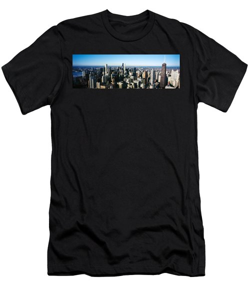 Skyscrapers In A City, Hancock Men's T-Shirt (Slim Fit) by Panoramic Images