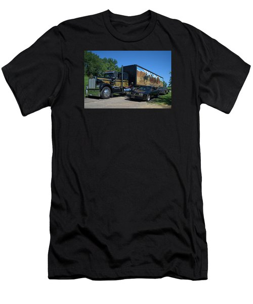 Smokey And The Bandit Tribute 1973 Kenworth Semi Truck And The Bandit Men's T-Shirt (Slim Fit) by Tim McCullough