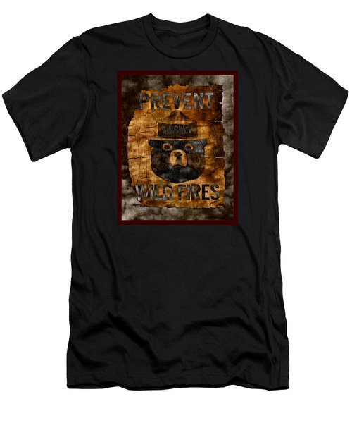 Smokey The Bear Only You Can Prevent Wild Fires Men's T-Shirt (Slim Fit) by John Stephens