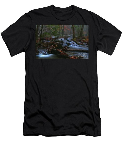 Smoky Mountain Color Men's T-Shirt (Athletic Fit)