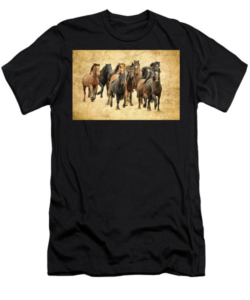 Stampede Of Wild Horses Men's T-Shirt (Athletic Fit)