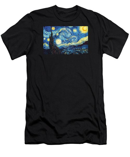 The Starry Night Men's T-Shirt (Slim Fit) by Vincent Van Gogh