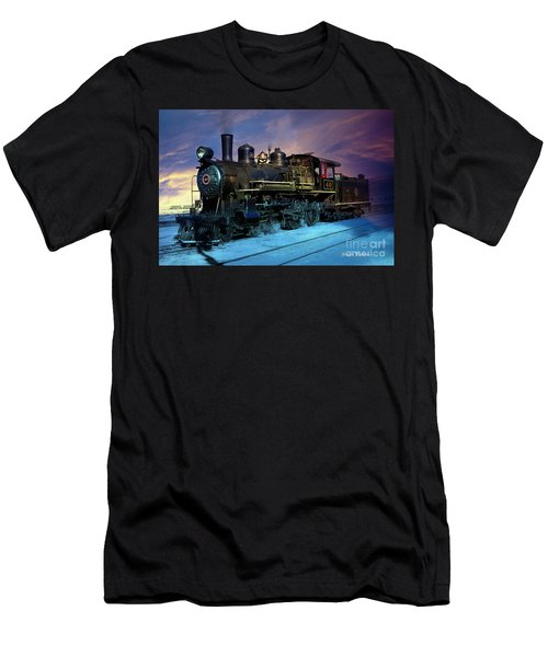 Men's T-Shirt (Athletic Fit) featuring the photograph Steam Engine Nevada Northern by Gunter Nezhoda