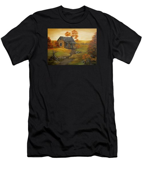 Stone Cabin Men's T-Shirt (Athletic Fit)