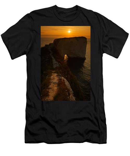 Sunrise At Old Harry Rocks Men's T-Shirt (Athletic Fit)