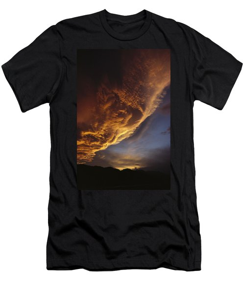 Sunset On Storm Clouds Near Mt Cook Men's T-Shirt (Athletic Fit)