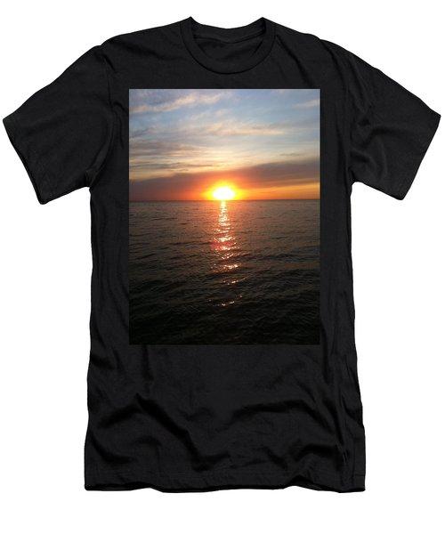 Sunset On The Bay Men's T-Shirt (Slim Fit) by Tiffany Erdman