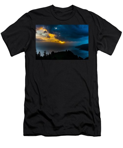 Sunset Over Blue Men's T-Shirt (Athletic Fit)