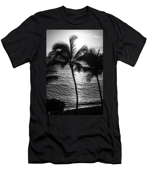 Sunset Silhouette Men's T-Shirt (Slim Fit) by Colleen Coccia