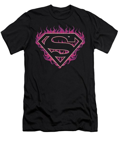 Superman - Fuchsia Flames Men's T-Shirt (Athletic Fit)