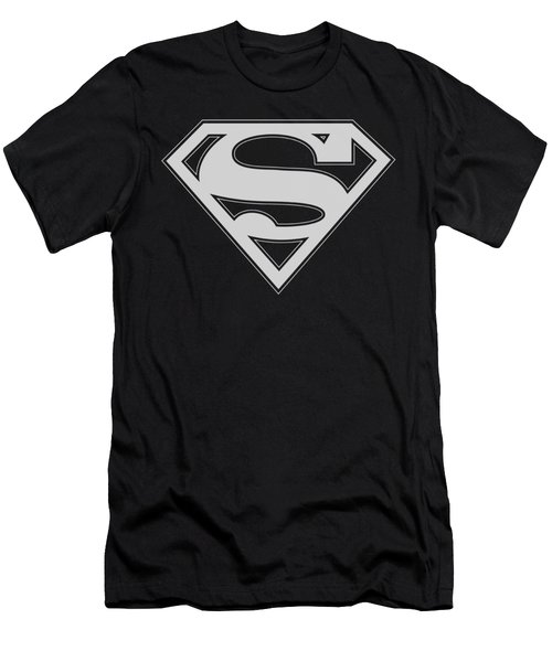 Superman - Green And White Shield Men's T-Shirt (Athletic Fit)