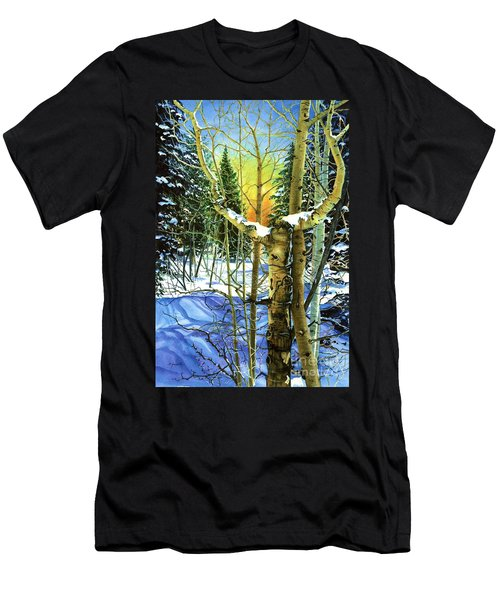 Men's T-Shirt (Slim Fit) featuring the painting Supplication-psalm 28 Verse 2 by Barbara Jewell