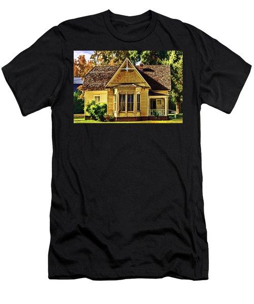 Men's T-Shirt (Slim Fit) featuring the painting Sweet Home by Muhie Kanawati