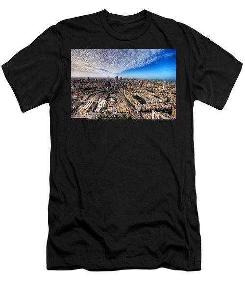Tel Aviv Skyline Men's T-Shirt (Athletic Fit)