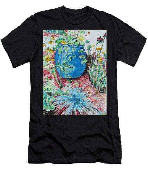 The Blue Flower Pot Men's T-Shirt (Athletic Fit)