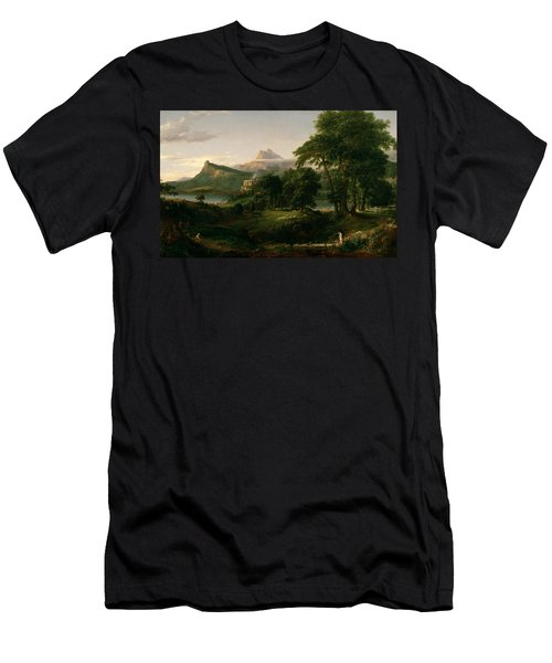 The Course Of Empire The Arcadian Or Pastoral State Men's T-Shirt (Athletic Fit)