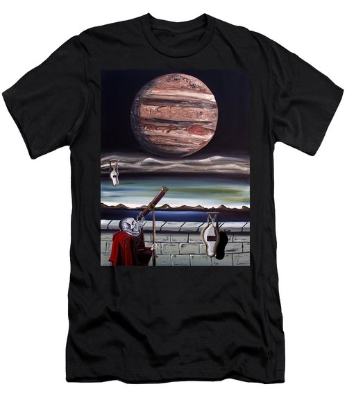Men's T-Shirt (Athletic Fit) featuring the painting The Eternal Staring Contest by Ryan Demaree
