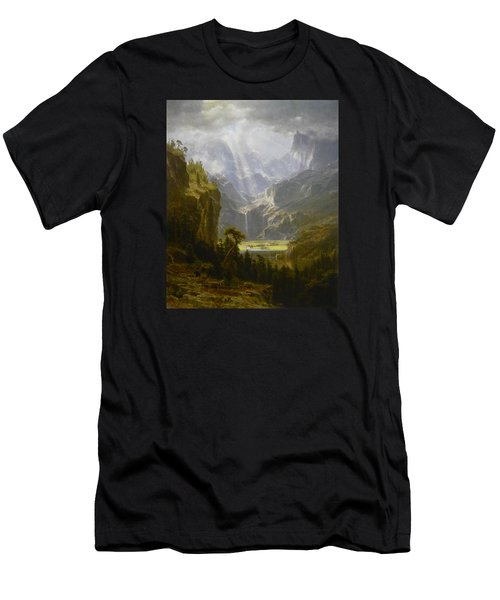 The Rocky Mountains Lander's Peak Men's T-Shirt (Slim Fit) by Celestial Images