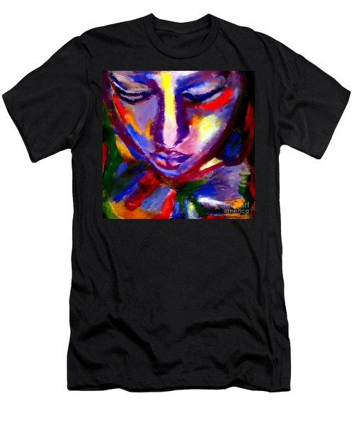 Men's T-Shirt (Slim Fit) featuring the painting The Universe And Me by Helena Wierzbicki
