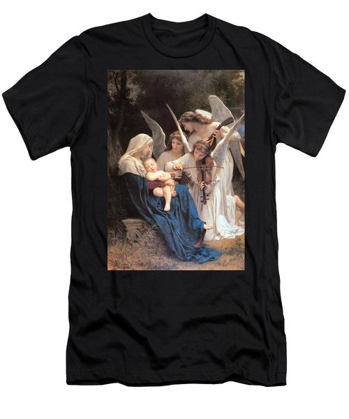 The Virgin With Angels Men's T-Shirt (Slim Fit) by William Bouguereau