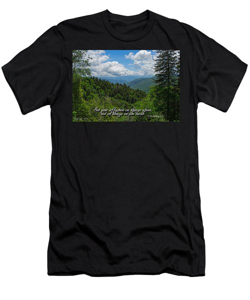 Men's T-Shirt (Slim Fit) featuring the photograph Things Above by Larry Bishop
