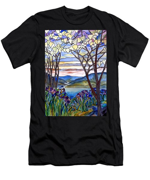 Stained Glass Tiffany Frank Memorial Window Men's T-Shirt (Slim Fit) by Donna Walsh