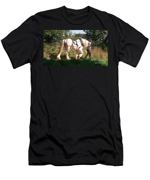 Tiverton Barge Horse Men's T-Shirt (Slim Fit) by John Williams
