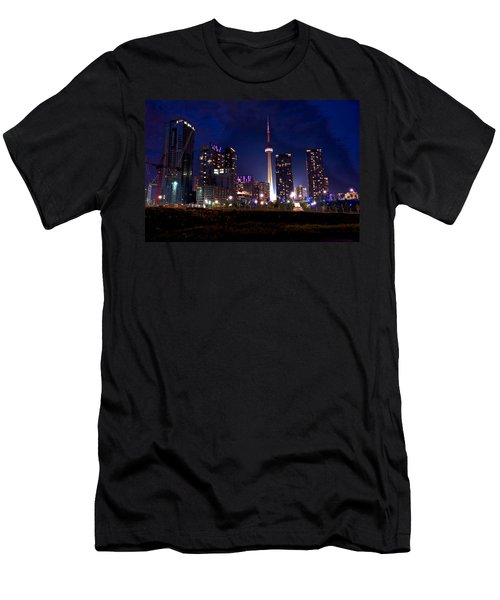 Toronto By Night Men's T-Shirt (Athletic Fit)