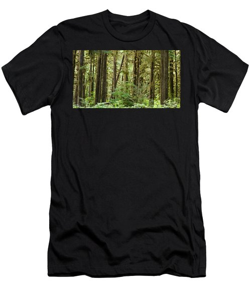 Trees In A Forest, Quinault Rainforest Men's T-Shirt (Athletic Fit)