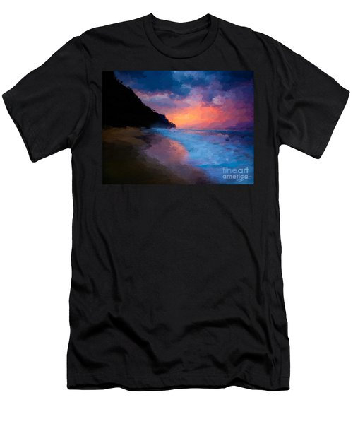Tropical Paradise Men's T-Shirt (Slim Fit) by Anthony Fishburne