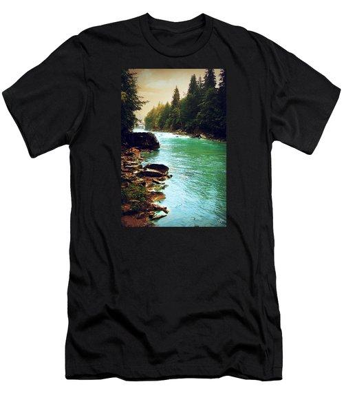 Ukrainian River Men's T-Shirt (Slim Fit) by Kate Black