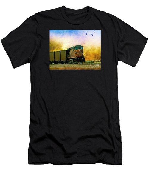 Union Pacific Coal Train Men's T-Shirt (Athletic Fit)