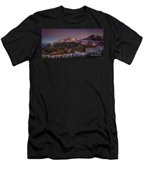 Vejer De La Frontera Panorama Cadiz Spain Men's T-Shirt (Slim Fit) by Pablo Avanzini