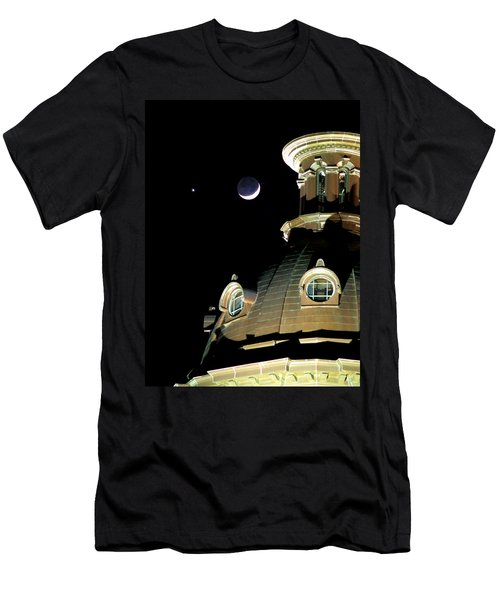 Venus And Crescent Moon-1 Men's T-Shirt (Athletic Fit)