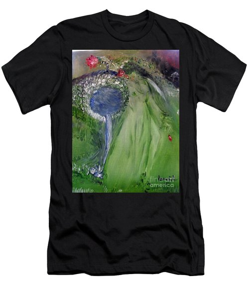 Men's T-Shirt (Athletic Fit) featuring the painting Water Girl by Laurie Lundquist