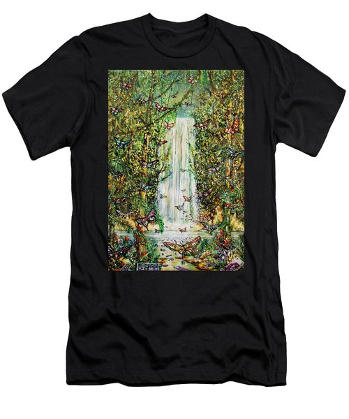 Waterfall Of Prosperity II Men's T-Shirt (Athletic Fit)